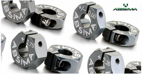 Hexagones Alu de roue 7075 T6 offset +0.75mm 1:10 (2)