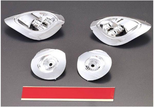Alfa Romeo 8C 1:7 Chrome headlight reflectors