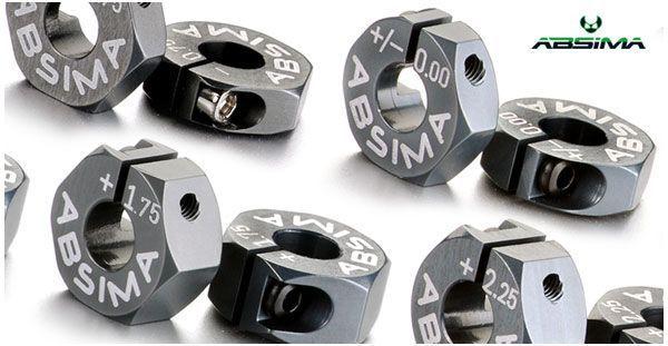 Hexagones Alu de roue 7075 T6 offset +1.50mm 1:10 (2)