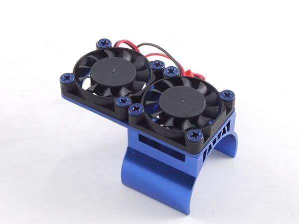 36mm Alu.-Doppelkühler blau
